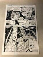 NICK FURY SHIELD #17 original art TRIMPE 1990 MECHANIZED MARAUDER wicked cool