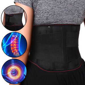Adjustable Lumbar Back Support Magnetic Belt Lower Pain Relief Double Pull Brace