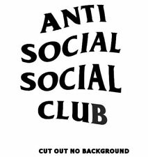 AntiSocial Social Club Car sticker Decals Pick Your Size