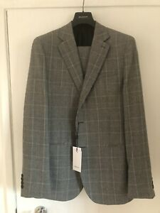 REISS 'Hall' Prince Of Wales check Mens Suit