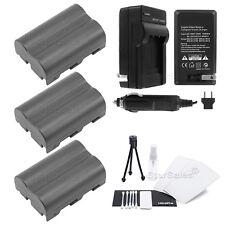3x D-LI50 Battery + Charger for Pentax K10D K20D