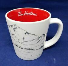 Tim Hortons 2018 Coffee Mug 14oz Limited Edition Red Interior HOCKEY NET Cup