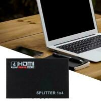 1 in 4 out Full HD HDMI Splitter 4 Port Hub Repeater 1080p Amplifier 3D Hot O5Y5