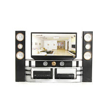 Special Hi-Fi 1:6 TV Home Theater Cabinet Set Combo for Barbie Doll