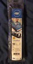 GBC CombBind Binding Spines 0.25 Inch Spine Black 94 Splines Left In Open Box
