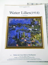 Water Lilies Cross Stitch PATTERN ONLY Monet Fine Arts Society Conversion Chart