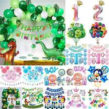 Kids Baby Child Birthday Party Balloon Cartoon Ballons Set Banner Bunting Decor