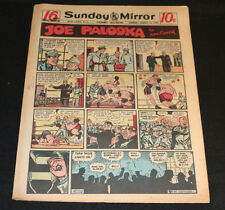1950 Sunday Mirror Weekly Comic Section March 12th (Vg+) Superman Lil Abner