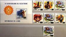 Zaïre Congo Kinshasa 1985 915-21 bloc 54 youth year scouts boy scouts OVP **