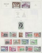 17 Dominica Stamps from Quality Old Antique Album 1949-1954