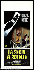 LA SEDIA A ROTELLE LOCANDINA CINEMA CATHERINE SPAAK GIALLO 1972 PLAYBILL POSTER