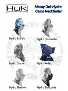 Huk Mossy Oak Hydro Camo Neck Gaiter / Mesh Front  H3000216 - Choose Color