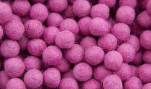 25 Beads Balls Felt/Felt Ø =1.5 CM -old rose-100% Wool -211 -B012