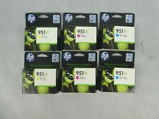 Job Lot 6 x HP 951XL Printer Ink Cartridges Various Colours Unopened EXPIRED INK