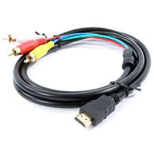Da HDMI a 3 Fono RCA Rosso Bianco Giallo Cavo AV Audio Video Piombo UNIVERSALE 1.5 M UK