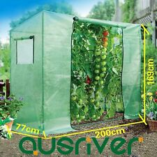 200x77x169cm Walk In Greenhouse Garden Green House Tomato Plant Shed PE Cover UV