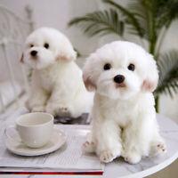 38cm Cute Lifelike Realistic Maltese Dog Plush Toy Soft Stuffed Doll Kids Gifts