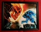 Ghost Rider Marvel Comic Book Memorabilia Flaming Skull Framed Art Print Gift