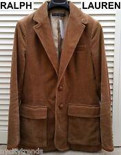ab3f71603cb2fb POLO Ralph Lauren 34S brown corduroy blazer sport coat jacket leather slim  34 S