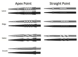 Harrows Apex and Straight Replacement Dart Points - Smooth Lance Ridge or Sabre