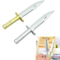 1x Personalized Plastic Ballpoint Pen Knife Shape Dagger Writing Instrument Gift