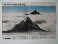 4/1991 PUB LOCKHEED F-117 STEALTH FIGHTER US AIR FORCE DESERT STORM ORIGINAL AD