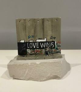 BANKSY - 'Love Wins' Wall Section Sculpture (from the Walled Off Hotel)