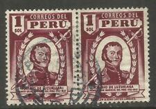 PERU. 1sol USED PAIR.