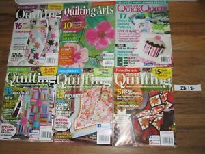 lot of 6 McCalls Fons & Porter's~Love of Quilting ARTS Magazine 2012
