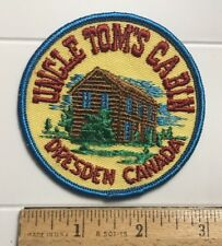 Uncle Tom's Cabin Dresden Ontario Canada Souvenir Round Embroidered Patch