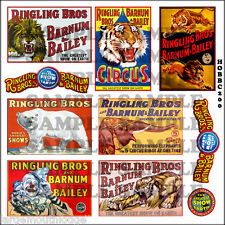 HO SCALE RINGLING BROS CIRCUS POSTERS BUILDING SIGN DECALS HOBBC200