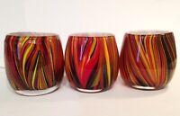 Missoni fr Target ART GLASS SWIRL HAND-BLOWN COLORFUL VOTIVE CANDLE HOLDERS Boho