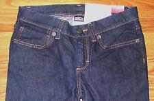 New $89 Womens Patagonia Reg Fit Low Rise Straight Leg Stretch Denim Jeans 00