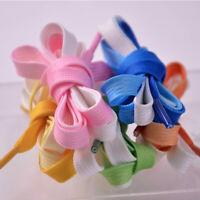 1PCS Women Gradient Shoelace Shoe Strings Fashion Flat Sports Casual Colorful US
