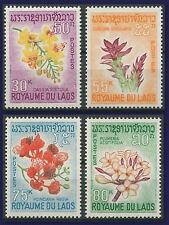 LAOS N°160/163** Fleurs,  1967, Flowers Set MNH