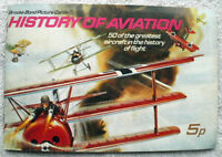 BROOKE BOND PICTURE CARDS HISTORY OF AVIATION COMPLETE CARD SET
