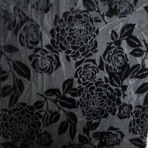 Seamless Floral Pattern on Burnout Velvet Fabric  - Style P-613-VELVET