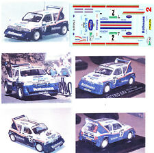 Decals 1/43e MG Metro 6R4 Ro..th..mans J.Mc Rae Corte Ingles 1986