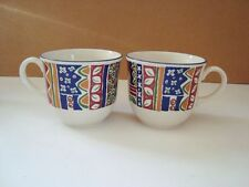 Earthenware Staffordshire Pottery Cups & Saucers