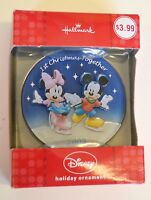 NEW Hallmark Seasons Ornament 2009 FIRST CHRISTMAS Together Minnie MICKEY MOUSE