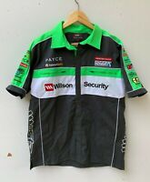 WILSON SECURITY V8 SUPERCARS men's short sleeve shirt size M