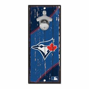 MLB Toronto Blue Jays Bottle Opener Wood Sign Holzschild Holz Wandschmuck