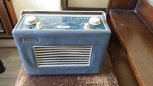 Hacker VHF Herald RP37 Vintage Transistor Radio, Blue