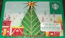 """STARBUCKS CANADA SERIES GIFT CARD """"CHRISTMAS WRAPPED CITY"""" 2017 NEW NO VALUE NEW"""