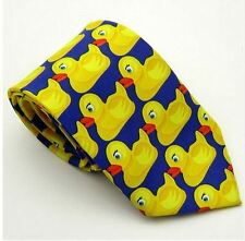 Unisex Fancy Dress Novelty Yellow Duck Bird Animal Tie - Brand New