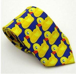 Unisex Fancy Dress Novelty Yellow Duck Bird Animal Tie - Brand New