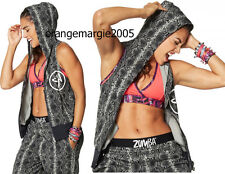ZUMBA 2pc.SET! Rep My Style Sleeveless Hoodie +Corally Yours Silver Metallic Bra