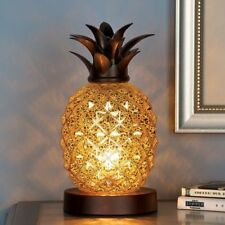 Birthday Gifts Her Mom Grandma Aunt Glass Tabletop Pineapple Electric Table Lamp