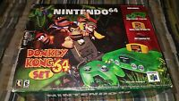 Excellent Nintendo 64 Donkey Kong Jungle Green Console N64 Complete Brand New