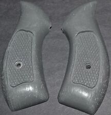 Smith and Wesson S&W model 60 pistol grips aluminum grey plastic